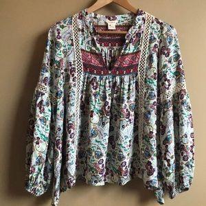 Sundance boho blouse top XS